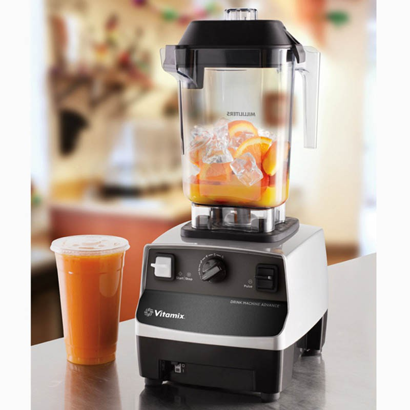The Ultimate Blender For Every Beverage Program  From fruit smoothies to thick shakes, the Drink Machine Advance is an essential tool for adding or expanding a blended beverage program.  Smart Product Design • 6 optimized programs and automatic shut-off means you can turn it on, walk away, and consistently blend beverages • Pulse control quickly refreshes drinks for efficiency • Advance® container creates faster, smoother pouring and has a longer blade life resulting in time and cost savings along with improved customer experience • Advanced motor is designed to resist overheating when blending extra-thick ingredients resulting in cooler operation and enhanced reliability during peak hours of operation  Specification  Dimension                       Electrical                        Capacity Width: 203 mm            Voltage: 230 V                Jar – 0.9 Litres Height: 449 mm           Freq.: 50/60 Hz              Motor – 2 HP Depth: 229 mm            Power: 750 - 850 W     RPM – 37000rpm  Net Weight: 5.9kg  We focus all of our attention on the customer to offer our full support. For maximum flexibility and availability, we assist our customers from the first contact through post sales.   GST Taxes applicable extra  For further details and queries please contact +91-9811333004   Marketed by  Xpresso Enterprises
