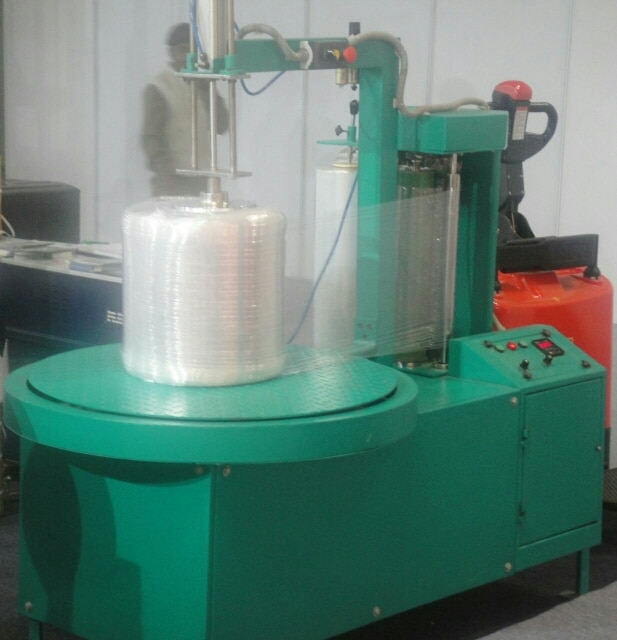 We are a key Supplier and manufacturer of Wrapping Machine, and remain mindful of precision, collection and straightforward application. Incredible with respect to outside and inside entire.They come in different widths and grades to suit the specific needs of customers.  Specifications For Wrapping Machine Product to be PackedCorrugated Cartons / Tin Cans / Multiple Books etc Product Dimensions700mm x 700mm x 600mm (L x W x H) Turntable Diameter.1500mm (1800mm) Max. Pallet WeightUpto 100 Kg. CapacityUpto 150 Cartons / Hour Direction of RotationClockwise (When viewed from top) Power1 HP 3 Phase 415 V 50 Hz AC Turn-TableMS Fabricated 900mm Diameter / Variable Speed MotorsAC Motors with Gear Box Spool Carriage.4 FRD/PE Stretch Carriage Pre-Stretch RangeUpto 300% Stretching SystemBi-Directional Wrapping Film UsageLLDPE Stretch-Wrap Film Special Features  Our experienced & talented professionals use modern machines and latest tools in manufacturing of these wrapping machines. Raw materials & components are procured from trusted vendors of the industry. Post production these wrapping machines are checked on varied parameters of quality & durability, to ensure these are 100% defect free. Offered wrapping machines are acknowledged for their unmatched performance, less power consumption and long operational life. These wrapping machines are preferred for their user-friendly design and have corrosion & rust proof surface finish. Moreover, our wrapping machines have sturdy structure and are easy to use. These wrapping machines are dispatched by our warehousing professionals in company approved packaging materials to ensure hassle free transportation. Customers can obtain these wrapping machines at pocket friendly prices Used in :  Computer monitors Domestic pumps Electrical & Electronic Goods Engineering items Cosmetic items Consumer goods etc. Following are the Advantages:  Protection from Moisture / Water Protection from Dust / Dirt Provides Extra Strength to the Carton. Pi