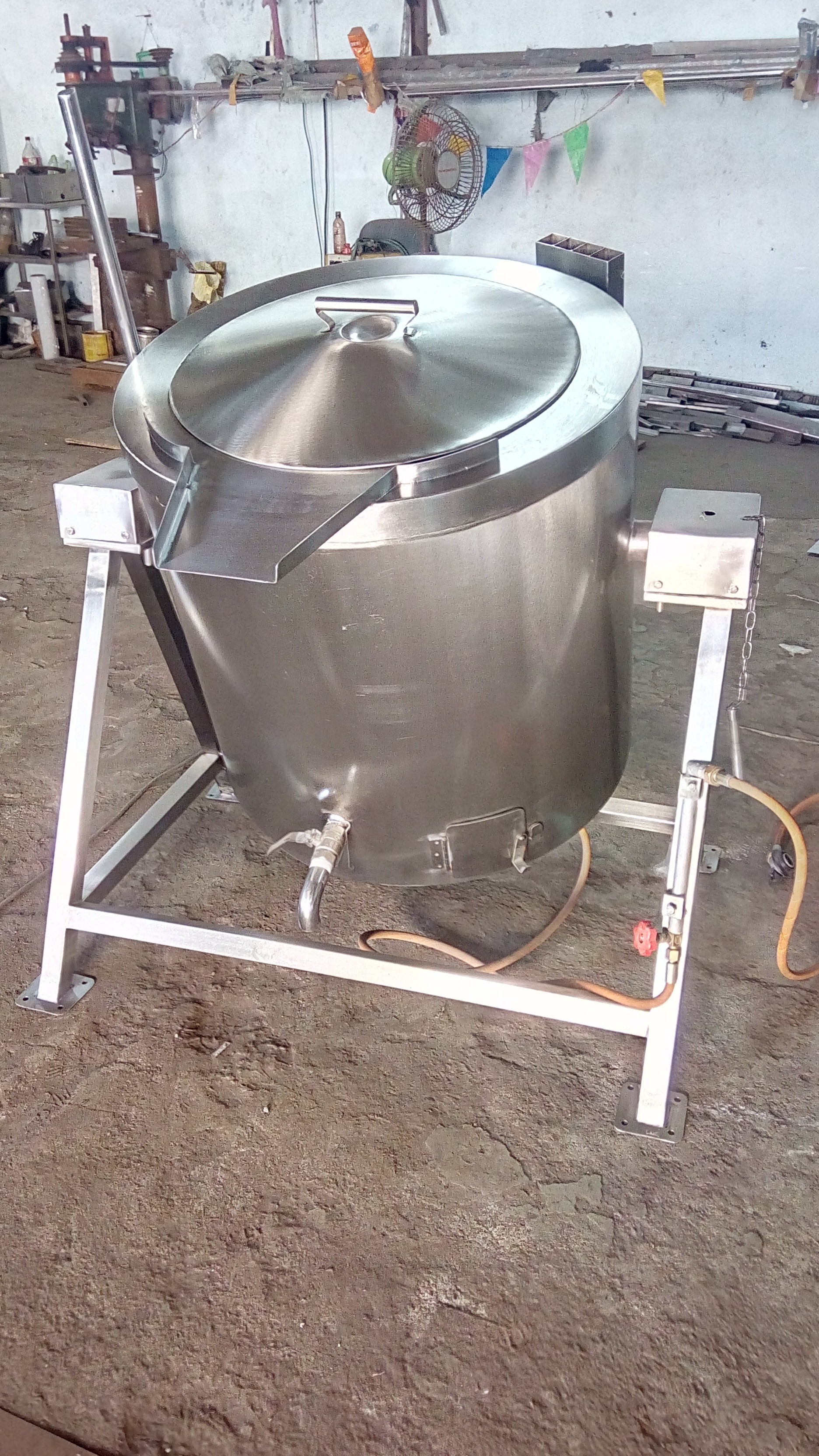 SS Triple Jacketed Rice Vessel