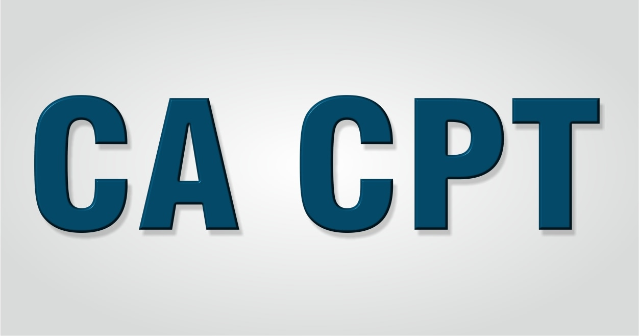 (CPT):-  After Passing class 10th a student is eligible for Registration for CA Foundation which is CA entrance exam but can appear for CPT only if he has passed 10+2 exam or equivalent exam.  Syllabus of CA Foundation :-   i)Principles of practices of Accounting (100Marks) ii)Business Maths & Logical Reasoning & Statistics (100Marks) iii)Mercantile Law & General English (100Marks) iv)Business Economics & Business & Commercial Knowledge