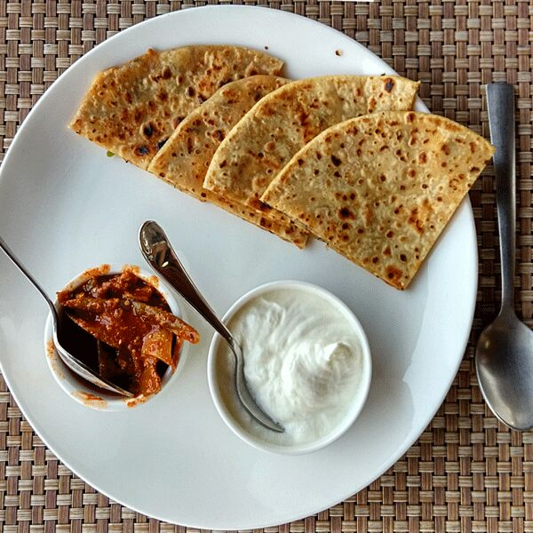With curd and pickle