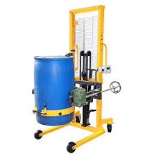 hydraulic drum lifter and tilter used in various factories. where the product required for lifting the drum and tilting into vessels, furnace, tank etc....  price is for electric operate for 5 ft raise height