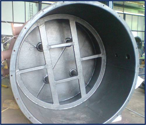 We offer a complete solution for Vessel Rubber Lining works. As Rubber is having good elasticity, good resistance  to chemical & Oil. Our Services for Rubber Lining work is required to prevent the corrosion, Erosion, Abrasion from substances like water, Oil, chemical, and other hazardous material. Also it is used to absorb and prevent sound pollution and vibration.