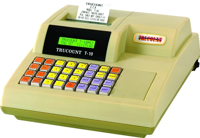 Model: T10 - Brand: TRUCOUNT- Retail & Restaurant Billing Solution. Easy to operate. Billing & Inventory can be managed. Sales, Stock & other important Reports will be generated. Battery & Cash Drawer can be attached (Optional) GST READY.