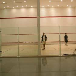 In order to fulfill the changing demands of our customers, we are offering a quality range of Squash Court Flooring.These products are manufactured by the experienced professionals keeping in mind the impact loads, which are created when players or spectators run against the wall. The walls of the squash courts are tempered, toughened and celled for playing & viewing.   The Wall:    The walls of squash courts have flexural strength and provides excellent impact due to the superior quality raw material used in manufacturing. These walls are appreciated for their features such as resistance against crack, excellent bond, high durability and low maintenance cost. Moreover, we offer our customers a wide choice of standard alternatives in either freestanding or fixed-head types. We also offer a complete range of option for side and back walls for permanent tournament venues.     Glass Wall Fittings:     The glass wall fittings offered by us are manufactured in conformation with the WSF standards & specifications. These fittings are of high quality and have excellent strength nylon pieces, which help in strengthening a glass wall in the clients' squash or racket ball court. Our offered wall fittings are small and clean shaped to prevent any annoyance for players and spectators. Moreover, these fittings are FP four panel freestanding type along with full height glass support fins. The products have SP two panel freestanding version, which are made on the special order of the customers.     Resilience & Appropriate Friction:     The offered wooden floorings are manufactured by the professionals following the norms laid down by FIBA, WSF and MFMA in all aspects. These floorings provide controlled ball bounce as well as perfect comfort underfoot. Our floorings are highly resilient and are preferable for free floating sports floors. Each and every piece of the flooring is seasoned, tongue and grooved with utmost perfection and coated underneath with polyurethanes for moisture proofness. Moreover, these are manufactured by the experts from single stripe, solid wood. Each board measuring 18/20/22 mm thick and width of 57 mm to 87 mm. Staggering length measuring from 450 mm to 1350 mm.   More Information:     Suitable for basket ball or indoor volley ball, gymnastic and aerobics Provided by us in varied species, maple-steam beech-hevea and teak Stripes glued to form a single piece of 20/22 mm x 129 mm x 1830 mm in Hevea, WSF approved flooring for squash courts and badminton flooring Dedicated sub-constructions