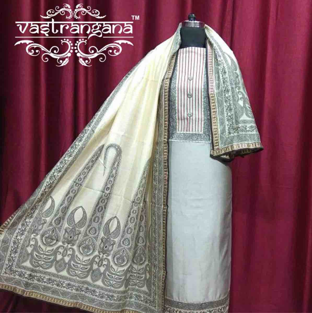 Maheshwari Silk with Cotton Bottom and Mashwari Dupatta