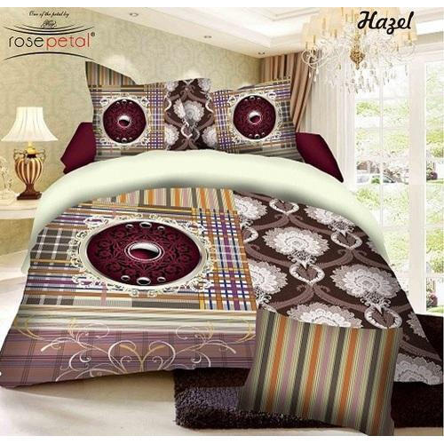 The attractive prints of the Printed 5D Bedsheet provided by us make it a highly sought after product among the clients. This bedsheet is known for its stylish design and longevity.  Features:  Breathable fabric Convenient to wash Lasts very long No color fading Lighter fabric weight Superior tearing strength