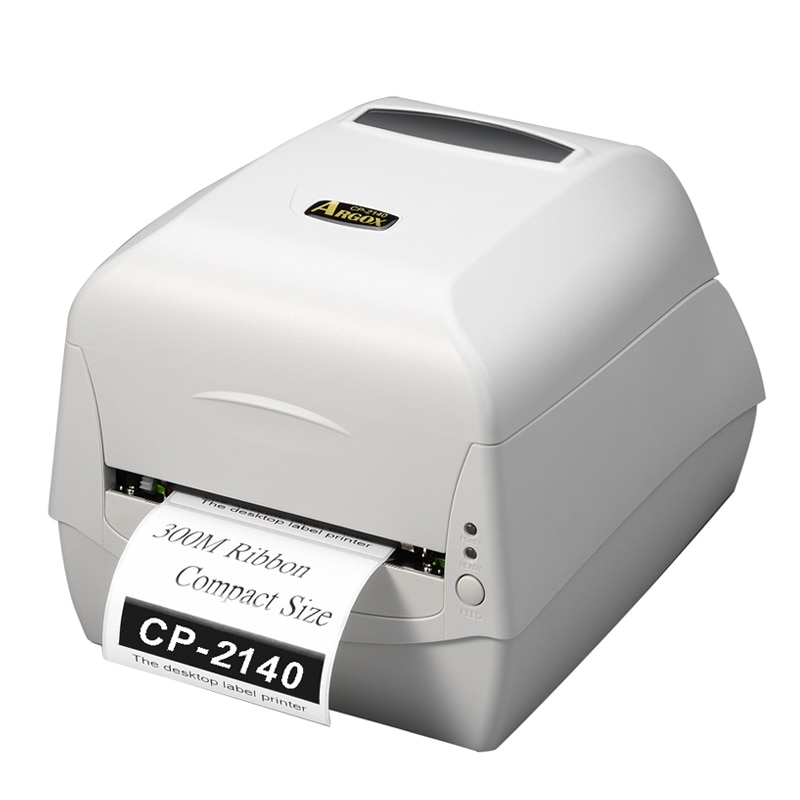 Models List: CP-2140  ● Compact size and 300M ribbon capacity. ● Easy media and ribbon loading. ● Multiple communication interfaces. ● A variety of paper sensor system for diverse applications. ● Ribbon wound ink-side out or ink-side in available. ● Printing speed 5 ips, standard memory of 4MB FLASH and 8MB SDRAM. ● Module design and easy maintenance. ● Four Auto-Calibration Modes. ● Printing noise improved. ● Supports 1D/GS1 Data bar, 2D/Composite codes and QR barcodes, and windows