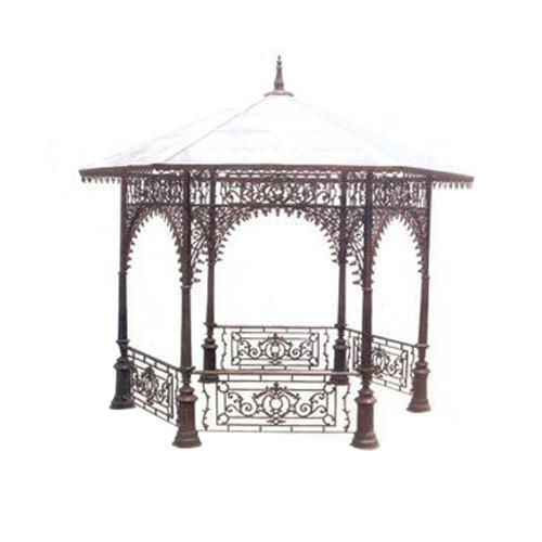 We have gained a huge pleasure in the industry by offering a wide range of Fancy Iron Gazebo.  Features: Supreme finish Optimum durability Weather proof  Applications: Resorts Parks
