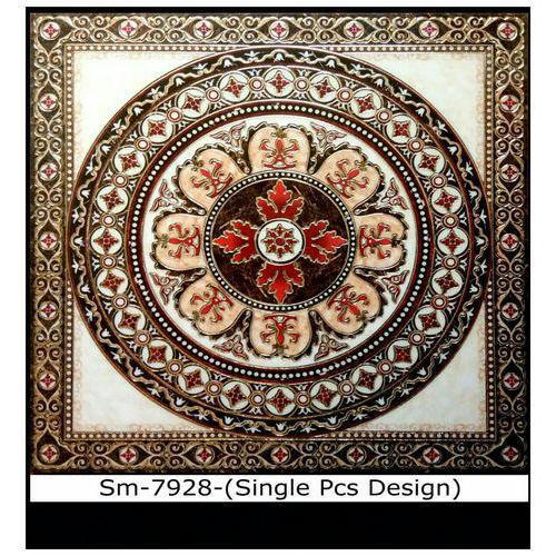 Floor Tiles : Single Piece Round Floor Tile
