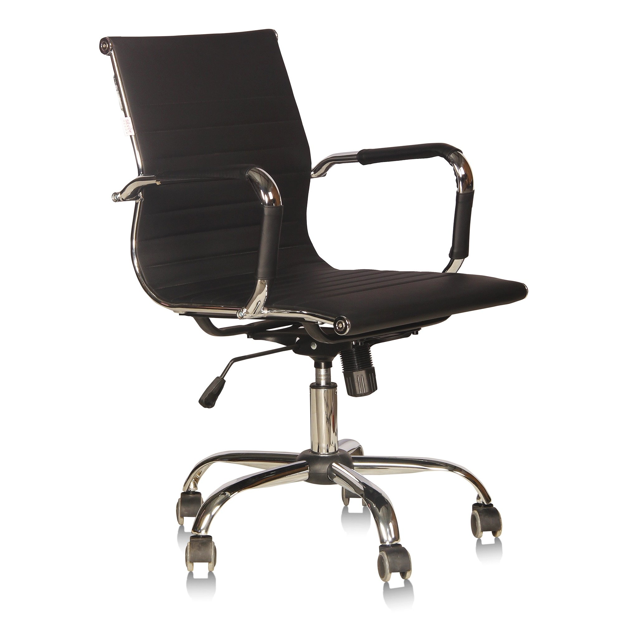 Office Chair ( Black Metal Adjustable Seat Height Chair )