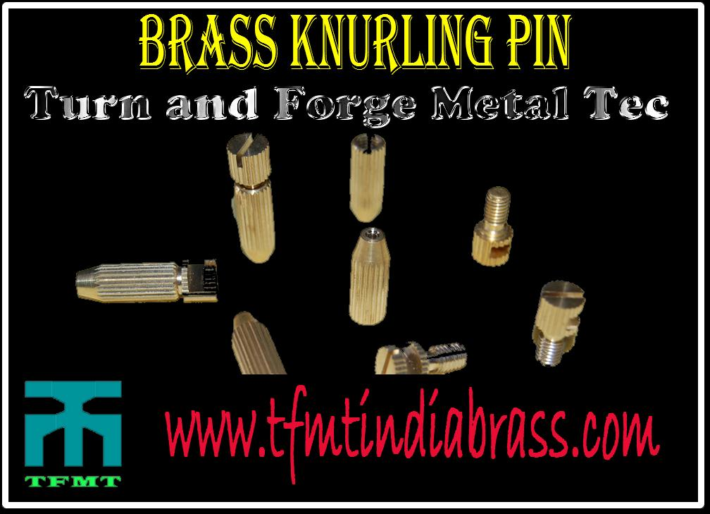 Brass Knurling Pin