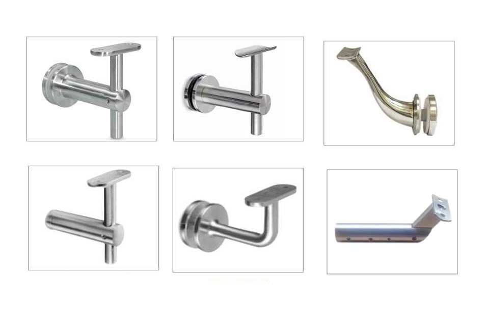 Handrail Brackets made from high quality Stainless Steel 304 and 316 Grade material.  Finish : Glossy and MATT
