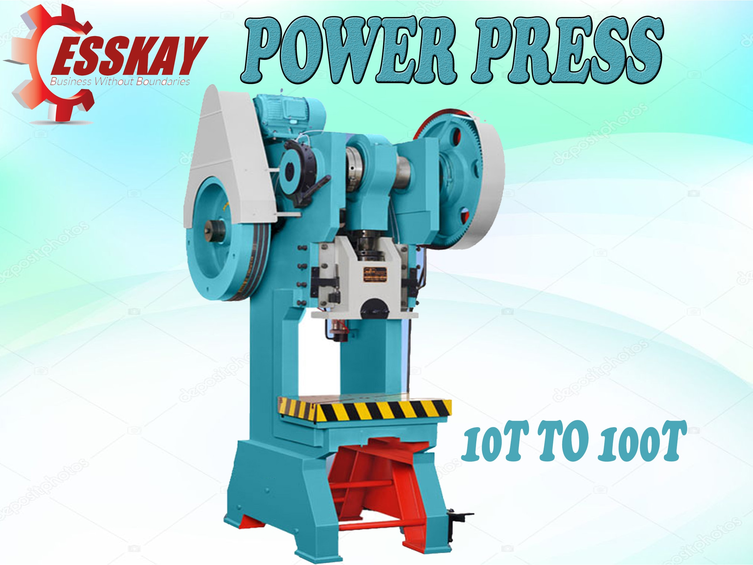 Product Details:  Capacity10 Ton Bed Size310 x 435 inch Bed To Ram230 mm Bolster Thickness58 mm Crank Shaft Dia75 mm Stroke Length52 mm Gear Dia455 mm Fly Wheel Dia535 mm  ESSKAY brand mechanical Power Presses are coming in both C frame and Pillar type versions from 3 tons to 250 tons capacity in most economical type of construction with several std/optional features such as manual/auto lubrication. systems; knockouts electronics hand safety; single/double or un-geared versions as also pneumatic feeders/ straightness and de-coilers for automation Purpose.  Request Callback