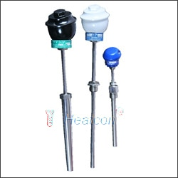 TYPES: K, J, N, T, E  HEATCON standard thermocouple line is used in applications where high reliability is a priority. Our thermocouple line comes with the highest purity MgO insulation to yield maximum EMF stability and minimum drift problems caused by insulation impurities. We have thermocouples available in standard and special calibration limits for types K, J, E, N and T . Upon request we can also custom manufacture all of our probes to meet your special requirements.  Standard Wire Types:   Chromel (+) -Alumel(-) K Iron(+) -Constantan(-) J Chromel (+)-Constantan(-) E Copper (+)-Constantan(-) T NICROSIL(+)-NISIL(-) N Base Metal Thermocouple Assembly with Metal Sheath  Temperature Range:-200 to 1400 ° C depending on sensor type  Common Sensor Types: K, J, N, T, E  Common Size: Ø 6.0mm to 26.7mm (3/4