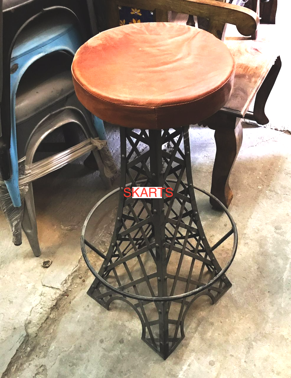 iron affil tower bar stool