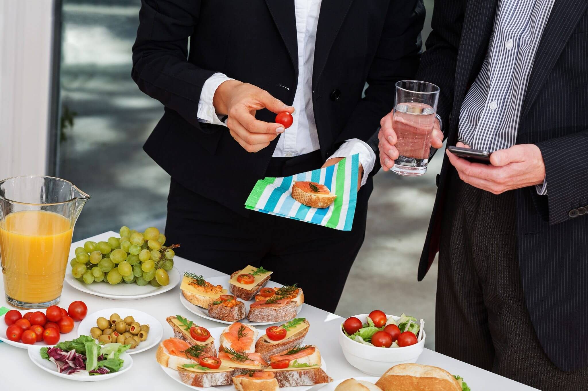 We have established ourselves as one of the fastest growing enterprises, actively committed towards providing Business Meetings Catering Service. This service is provided in a well-organized manner to sustain efficient and effective results. Our professionals are extremely focused thus ensuring personnel safety and customer satisfaction by executing it in best possible manner. This service is highly admired by our clients for its reliability and cost-effectiveness. Under this service, our experts take care of everything right from the food to decoration.   #Business-meetings-catering-service-in-vadodara. |Business Meetings Catering Service in vadodara|
