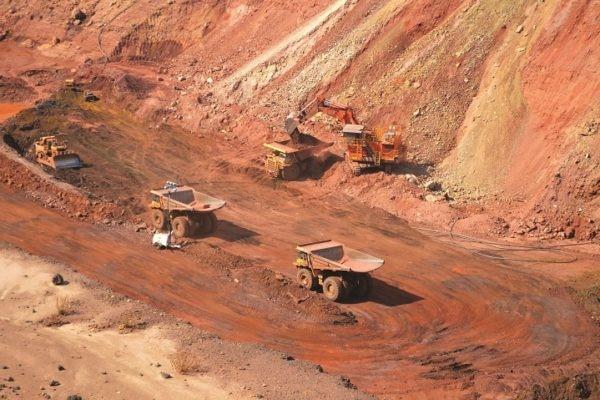 Mining drill hole, A