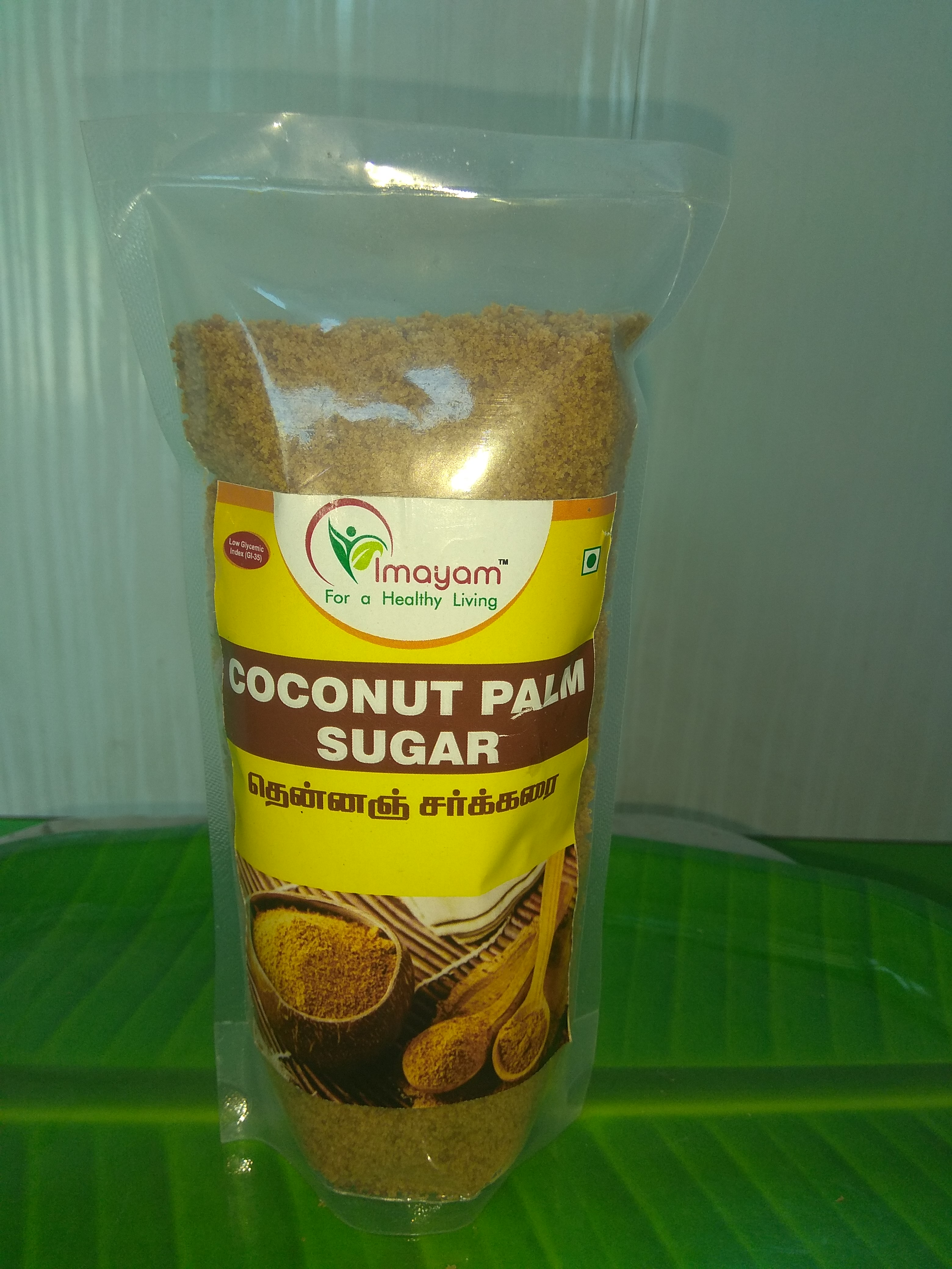 Unrefined Sugar. Rich in Vitamins and Minerals. Made from the sap collected from flower buds cut from coconut palm. Controls blood sugar level.