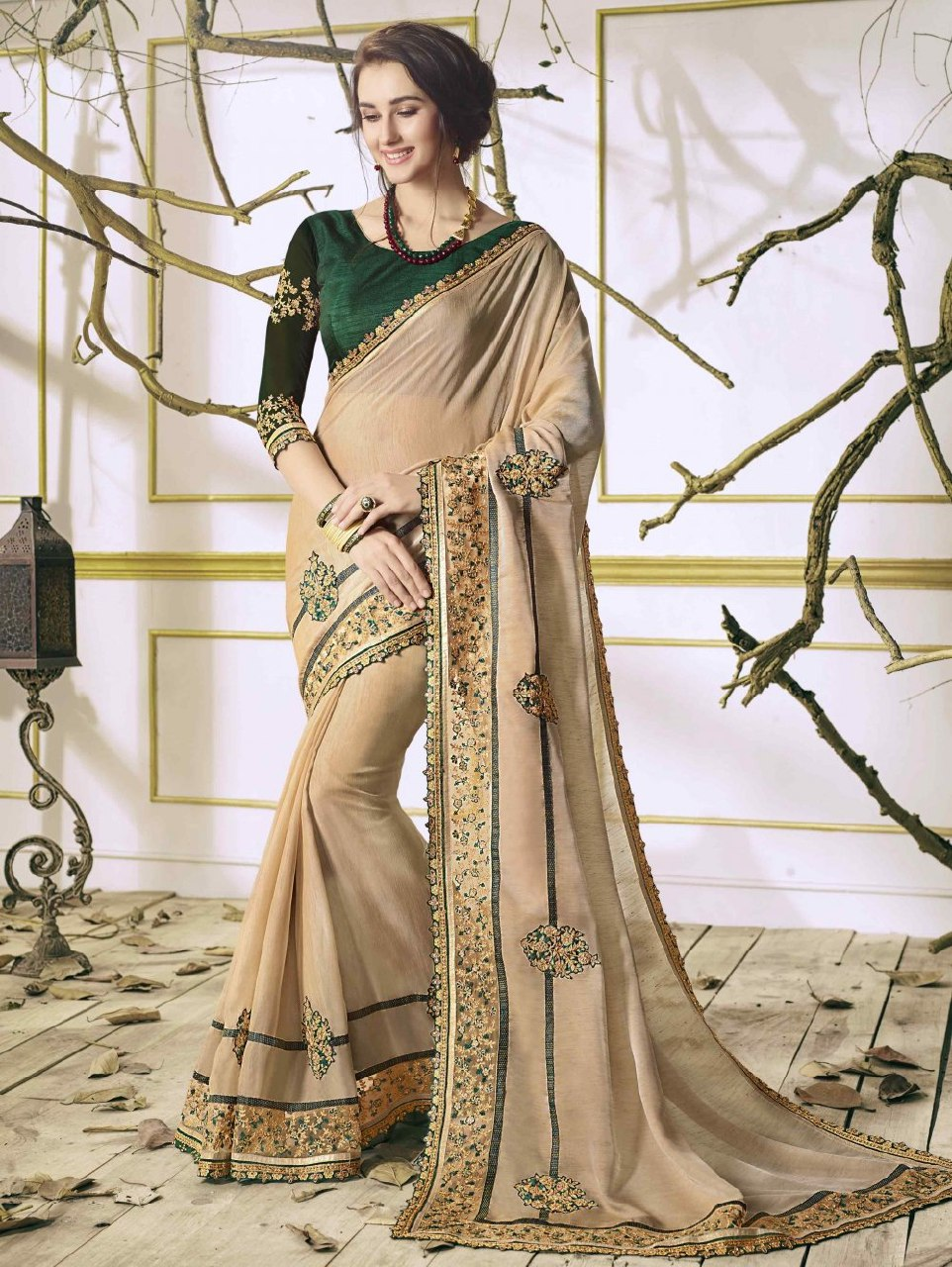 14b38b7e32f72b Mansha Fancy Chinnon Saree with Banglori Blouse | Pune ,India from ...