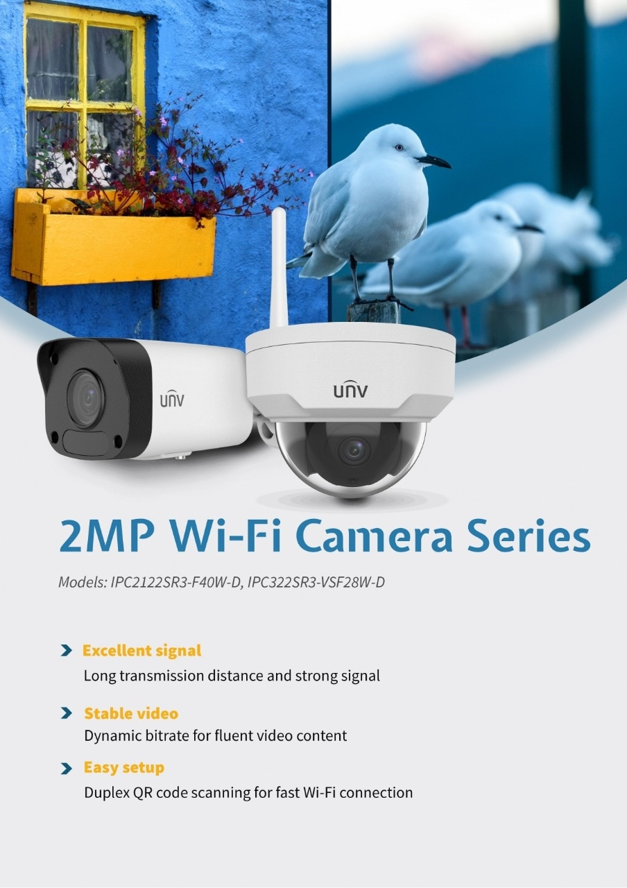 Uniview 2mp Wifi IP Camera | Indore , from G  G  Enterprises
