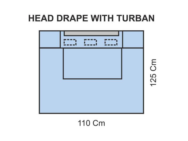 HEAD DRAPE WITH TURBAN