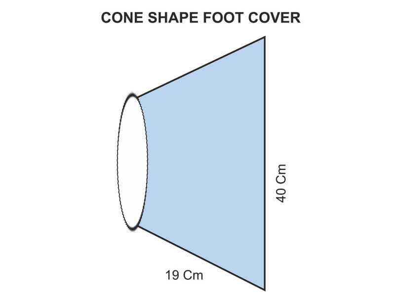 CONE SHAPE FOOT COVER