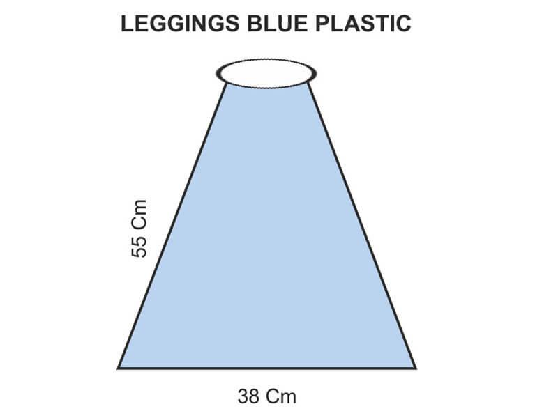 LEGGINGS BLUE PLASTIC
