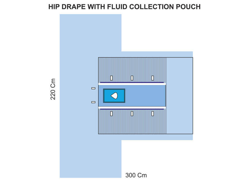 HIP DRAPE WITH FLUID COLLECTION POUCH