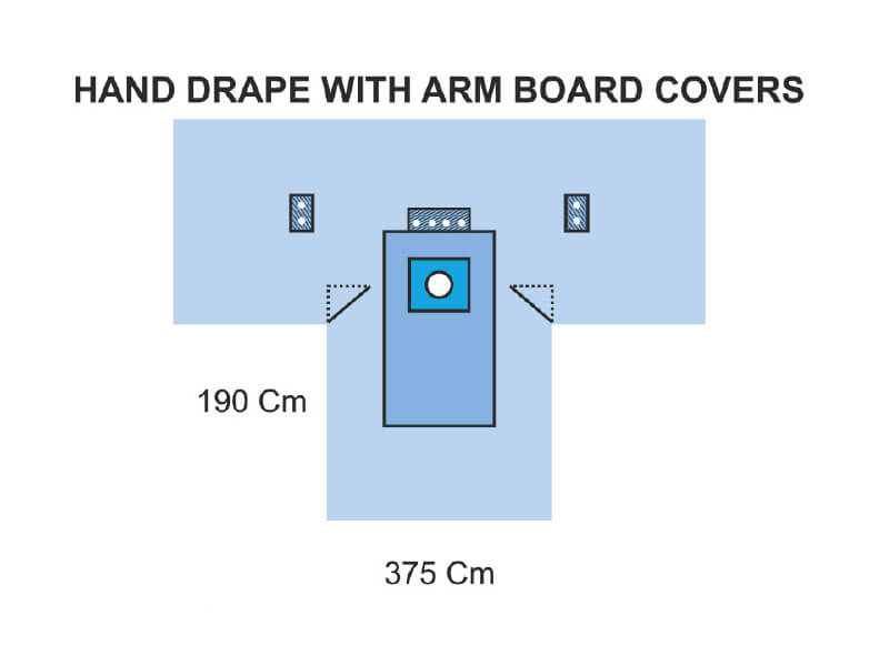 HAND DRAPE WITH ARM BOARD COVERS