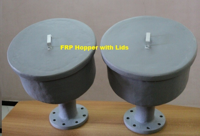 FRP Hopper with Lid