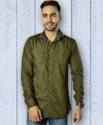 Capefox Olive Green Cotton Shirt