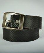 Black Faux Leather Belt For Men