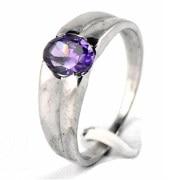 Silver Bijoux SBMR0007 Sapphire Ring