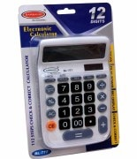 12 Digit - Dual Power - 112 Steps BL777W Check Electronic Calculator