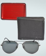 Imported Aviator, Card Holder & Wallet Combo