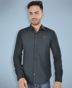 Barryline London Dark Green & Black Checked Casual Shirt