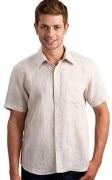 Linen Mens Half Sleeve Shirt