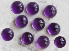 Amethyst 8x8 m.m. Round Cabochon Calibarated Gemstone