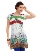 Y9 Women Floral Printed Embroidered Kurta