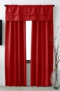 Windows Red Curtain