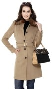 Wool Mart Overcoat For Women