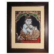 Butterthief Krishna Painting