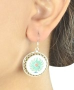 Champa Silver Marble Earings