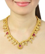 Golden Kolhapuri Saaz Necklace