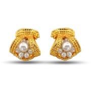 Beautiful Bejeweling Pearl Earrings