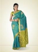 Kanchipuram Paisley Print Silk Saree