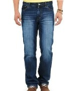 Mens Slim Fit Faded Jeans Pants