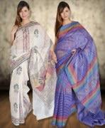 Kriaa Printed Saree Combo Of 2