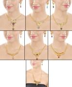 Kriaa Subashini Jewellery Set Combo Of 7